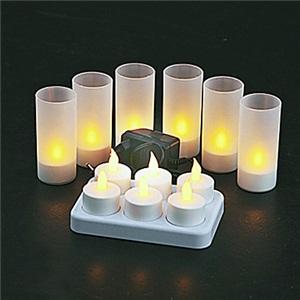 LEDテーブルランプ テーブル照明 テーブルライト スタンド 電球色 充電式 6pc
