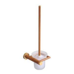 トイレブラシホルダー トイレ用品 トイレブラシ&ポット付き 高分子木材製 エコ 北欧風