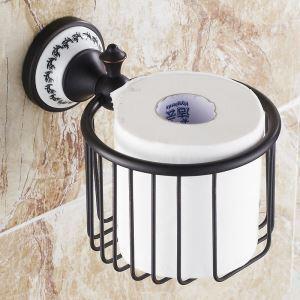 トイレットペーパーホルダー 紙巻器 トイレ用品 浴室収納 真鍮製 アンティーク調 ORB