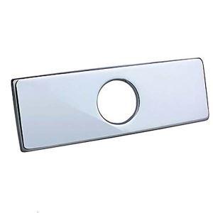 蛇口プレート 蛇口カバー 水栓金具 クロム 方形(0572370)