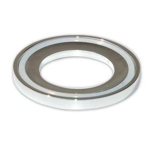 天板設置用リング 洗面ボウル固定用キット クロム 円形(0917-MR001)