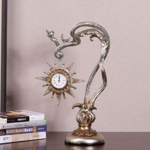 置き時計 静音時計 太陽時計 アンティーク調