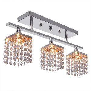 シーリングライト 照明器具 天井照明 リビング用 寝室用 クリスタル付 オシャレ照明 玄関照明 G9-3灯