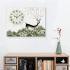 壁掛け時計 静音時計 絵画時計 壁飾り 1枚パネル 幸福鹿