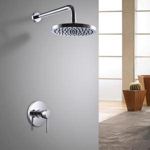 埋込形シャワー水栓 レインシャワーヘッド バス蛇口 ヘッドシャワー 混合栓 クロム(0609-1385200)