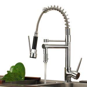 キッチン蛇口 台所蛇口 冷熱混合水栓 2吐水口水栓 クロム