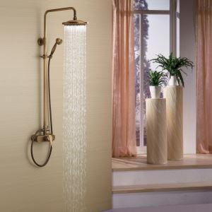 浴室シャワー水栓 レインシャワーシステム シャワーバー バス水栓 ヘッドシャワー+ハンドシャワー ブラス