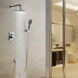 埋込式シャワー水栓 レインシャワーシステム 浴室シャワーバー バス蛇口 混合栓 クロム