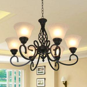 シャンデリア 天井照明 照明器具 アイアン照明 リビング照明 寝室照明 北欧風 6灯