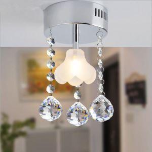 【送料無料】シーリングライト 照明器具 玄関照明 天井照明 オシャレ クリスタル 花型 1灯 HL008