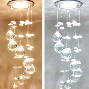 【送料無料】LEDペンダントライト クリスタル照明 玄関照明 埋込み式照明 LED対応 1灯 HL013