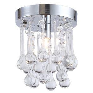 【送料無料】シーリングライト クリスタル照明 玄関照明 天井照明 水滴型 1灯 HL017