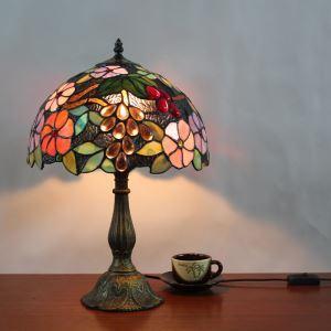 ステンドグラスランプ テーブルランプ ティファニーライト 卓上照明 間接照明 デスクライト 1灯 D30cm LTTL179