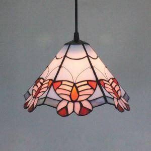 ティファニーライト ペンダントライト ステンドグラスランプ 照明器具 欧米風 玄関照明 1灯
