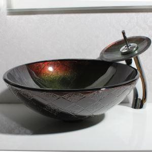 洗面ボウル&蛇口セット 洗面台 洗面器 手洗い器 洗面ボール 排水金具付 オシャレ HAM0057