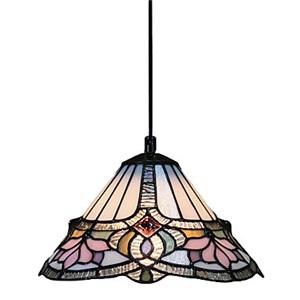 ティファニーライト ペンダントライト ステンドグラス照明器具 ロータス 1灯
