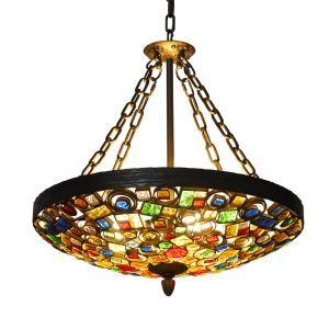 ペンダントライト 照明器具 リビング照明 店舗照明 寝室照明 彩色瑠璃 ボヘミア風 4灯 RI06860D