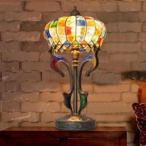 テーブルランプ 卓上照明 テーブルライト デスクライト 彩色瑠璃照明 ボヘミア風 1灯 RI200935T