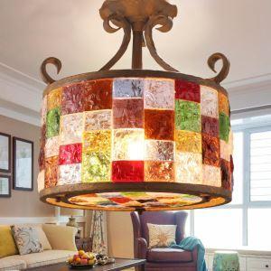 シーリングライト 天井照明 インテリア照明 リビング照明 彩色瑠璃照明 ボヘミア風 3灯 RIHP004350C