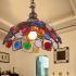 ペンダントライト 天井照明 リビング照明 照明器具 彩色瑠璃照明 ボヘミア風 1灯 RI20221