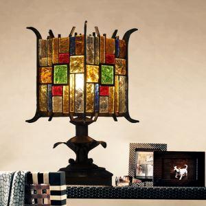 テーブルランプ 卓上照明 テーブルライト デスクライト 彩色瑠璃照明 ボヘミア風 1灯 RIT8024