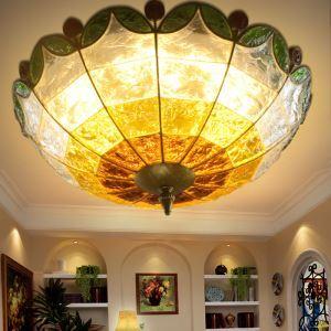 シーリングライト 天井照明 リビング照明 インテリア照明 彩色瑠璃照明 ボヘミア風 3灯 RIC0180T3