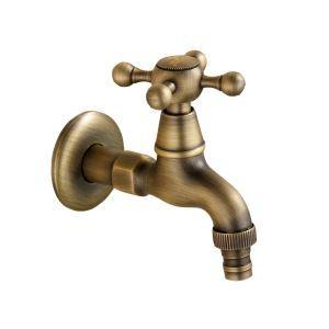 洗濯機用水栓 壁付水栓 洗濯機用単水栓 横水栓 真鍮製 ブロンズ色 TB-001