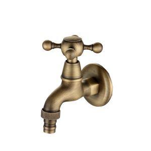 洗濯機用水栓 壁付水栓 洗濯機用単水栓 横水栓 真鍮製 ブロンズ色 TB-002