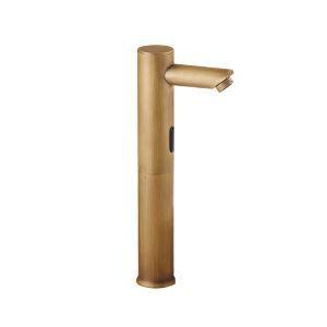 センサー水栓 自動水栓 洗面蛇口 バス蛇口 冷熱混合水栓 ブロンズ色 TB-005