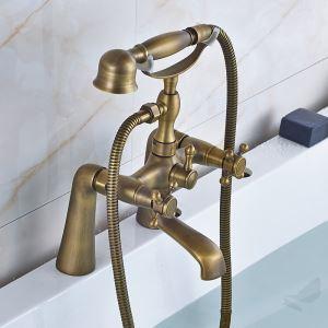 浴槽水栓 浴室用水栓 シャワー水栓 ハンドシャワー付き バス水栓 ブロンズ色 YMS-027