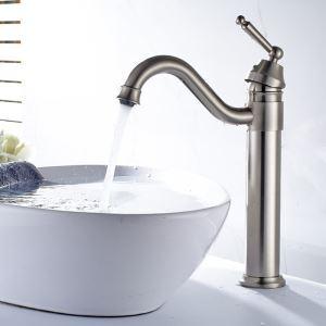 バス水栓 洗面蛇口 浴室水栓 水道蛇口 冷熱混合水栓 真鍮製 ヘアライン YMS039