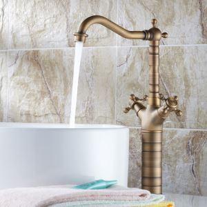 バス水栓 洗面蛇口 浴室水栓 水道蛇口 混合水栓 真鍮製 360°回転 H375mm