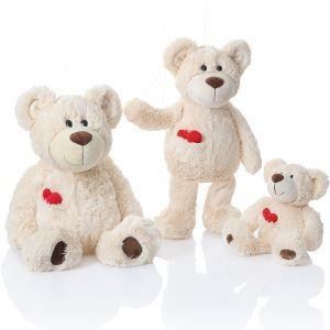 抱き枕 ぬいぐるみ おもちゃ 熊家族 ハート付け L 26-DP-003