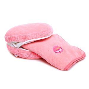 クッションカバー 抱き枕カバー 腰まくら Macaron 毛布付 2点入 27-DP-004