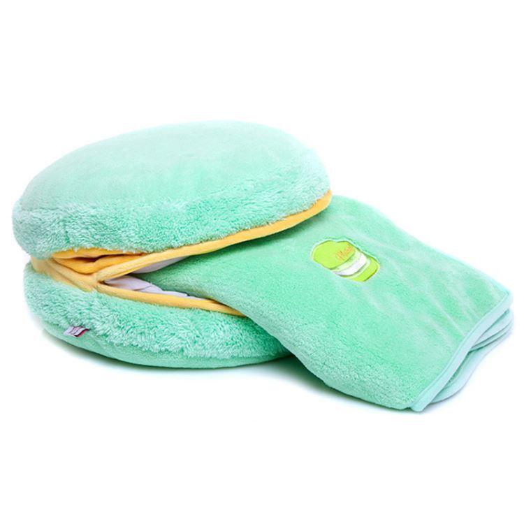 マカロンクッション ぬいぐるみ 抱き枕 腰まくら 飾り物 Macaron フランス風 彩り 毛布付 プレゼント