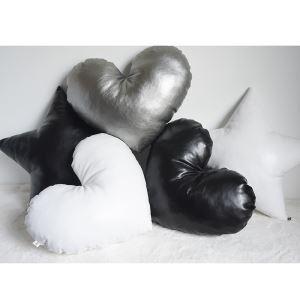 クッションカバー 抱き枕カバー 腰枕 手作り PU皮革 ハート 28-DP-001