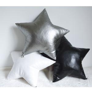 クッションカバー 抱き枕カバー 腰枕 手作り PU皮革 星 28-DP-002