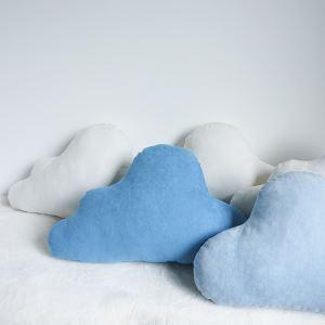 クッションカバー 抱き枕カバー 腰枕 手作り セーム革 雲 L 28-DP-005