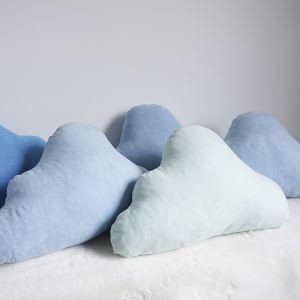クッションカバー 抱き枕カバー 腰枕 手作り セーム革 雲 S 28-DP-006