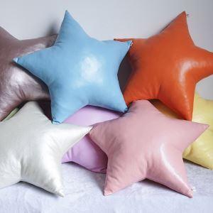 ぬいぐるみ 抱き枕 クッション 腰枕 飾り物 手作り PU皮革 星 プレゼント DP28008