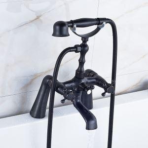 浴槽水栓 浴室用水栓 シャワー水栓 ハンドシャワー付き ORB アンティーク調 YMS-024