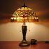 テーブルランプ ステンドグラスランプ ティファニーライト 卓上照明 寝室スタンド 2灯 16in STL006