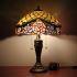テーブルランプ ステンドグラスランプ ティファニーライト 卓上照明 寝室スタンド ローズ柄 2灯 16in STL007