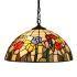 ステンドグラスランプ ペンダントライト ティファニーライト 照明器具 2灯 D40cm SPL-033