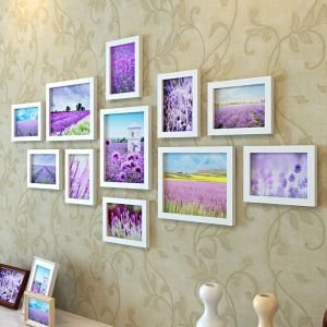 壁掛けフォトフレーム 写真用額縁 フォトデコレーション 白色 11個セット 複数枚