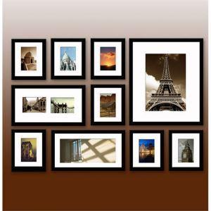 壁掛けフォトフレーム 写真用額縁 フォトデコレーション 白枠 10個セット 複数枚