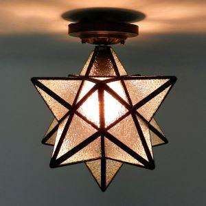シーリングライト 工業照明 玄関照明 北欧風照明 ビンテージ 五角星型 1灯 BEH399367