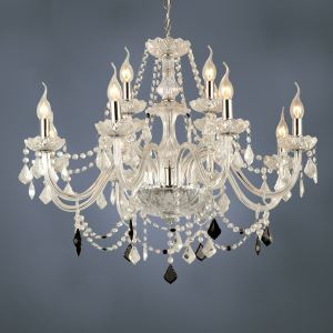 シャンデリア クリスタル照明 照明器具 インテリア照明 透明 オシャレ 豪華 12灯
