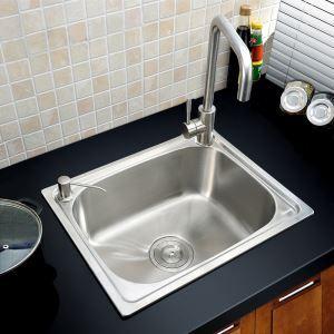 キッチンシンク(蛇口なし) 台所の流し台 #304ステンレス製流し台 S5040 20in