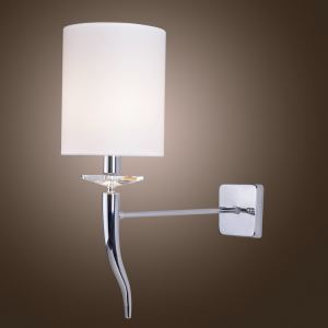 壁掛けライト ウォールランプ 照明器具 ブラケット クリスタル 牛角型 1灯